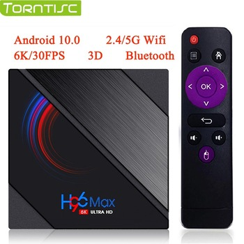 H96 MAX H616 Android 10 Torntisc TV Box 2020 6K 3D 4G 64G Smart Media Player 2.4G/5G WiFi Bluetooth Quad Core Android TV Box