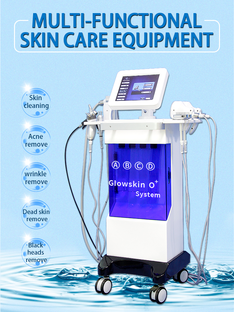 Hot Selling 8 In 1 Hydro  Ultrasonic Skin Care Rejuvenation Equipmnent Hydra Facial Water Peeling Machine OEM Available