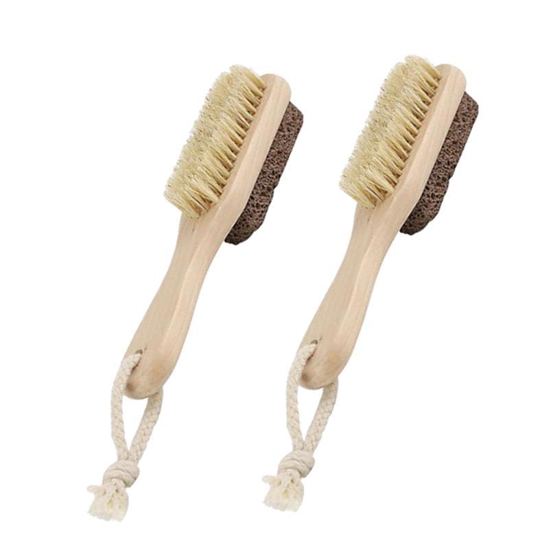 Foot Care Tools Double Sided Brush Foot Scraper Bristles Foot File Callus Dead Skin Remover Pedicure Care Accessory