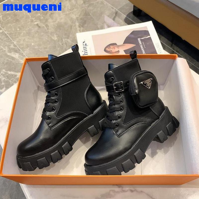 MUQUENI  increase riding boots women 2021 new autumn winter pocket women's boots platform fashion casual women's shoes