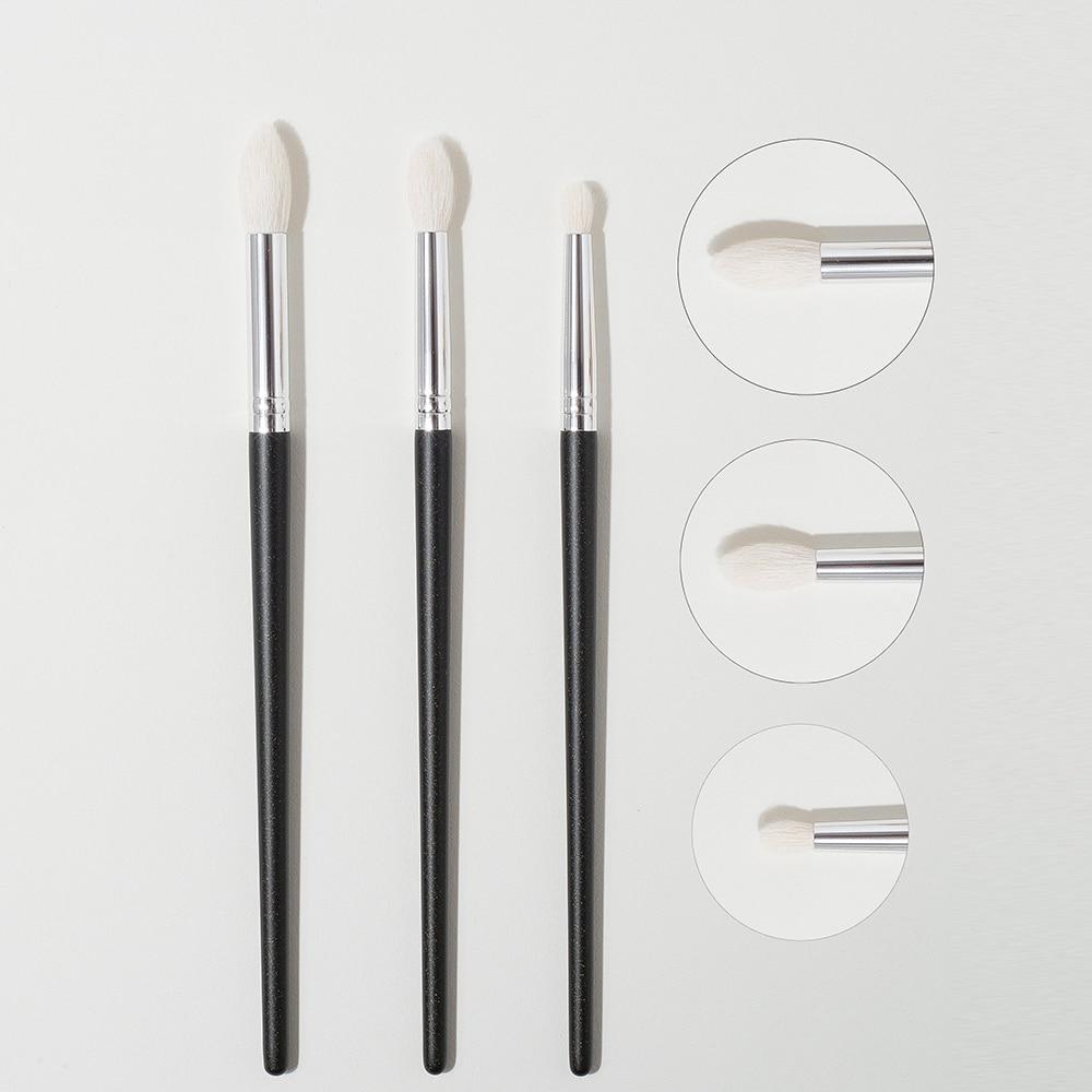 Shinedo 3 pcs goat hair tapered crease blending Brush Eyeshadow Makeup cosmetic kit maquiagem Smudge Eye Makeup Brushes 1