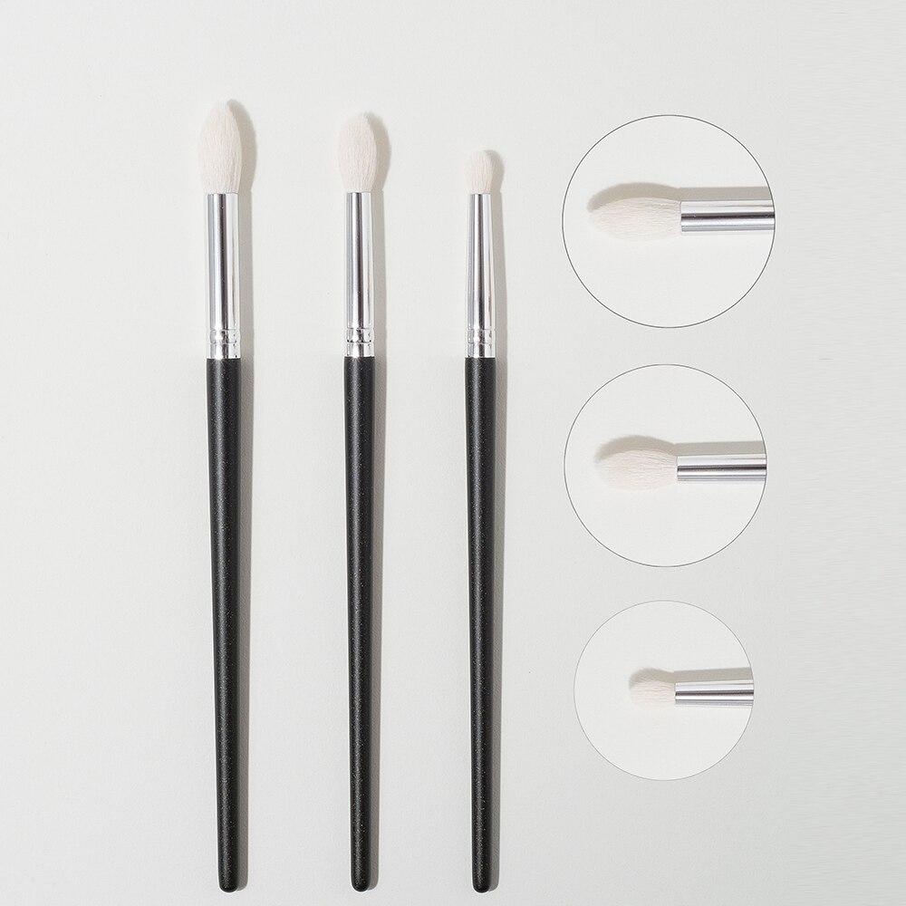 Shinedo 3 шт., кисть для растушевки теней для век из козьей шерсти, набор косметических кистей для макияжа