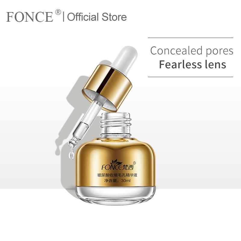 Fonce Shrink Pores Liquid Hyaluronic Acid Moisturizing Anti Aging Face Serum Repair Remove Blackhead Essential Oils Essence
