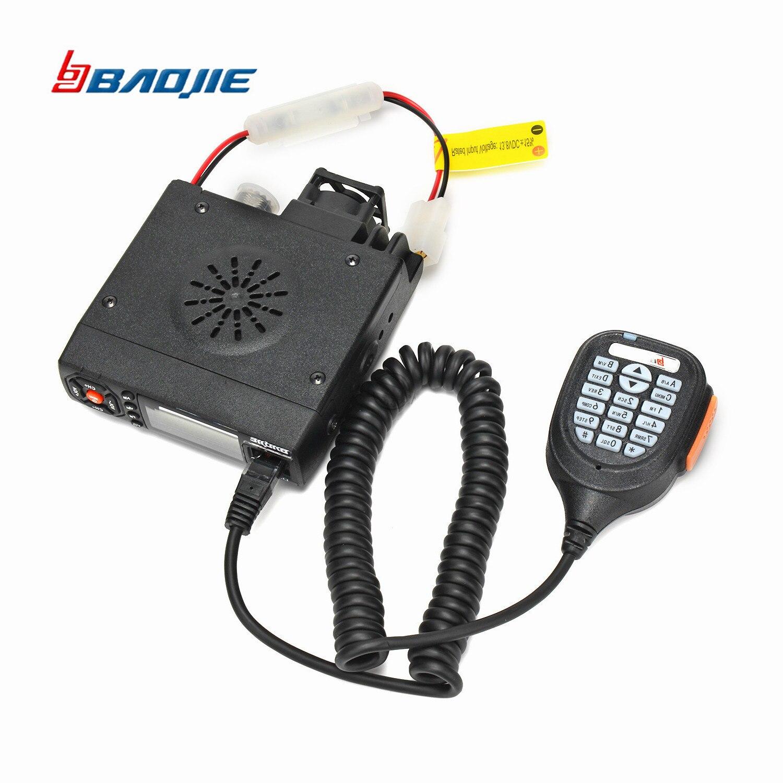Baojie BJ-218 25 de Longo Alcance Mini Car Mobile Radio Transceiver W Dual Band VHF/UHF CB rádio Do Carro BJ218 rádio Para O Caminhão