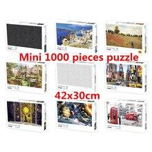 1000 pezzi Mini Puzzle per adulti e bambini semplice sfida giocattoli gioco di decompressione del paesaggio (dimensioni 42x30cm)