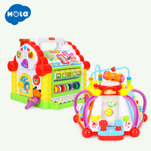 HOLA 739 and 806 Baby Toys Musical Activity Cube Toy Learning Educational Game Play Center Toy with Lights & Sounds for Kids new arrival gift baby piano toy musical instrument 8 keys easy play game educational toys music learning tool kids enlighten toy