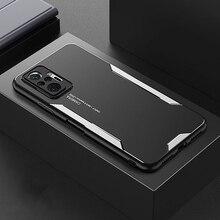 Aluminum alloy Case For Xiaomi Redmi Note 10 Pro Max 10S Anti Fall Metal Back Cover Soft Edge Lens Protector Case Funda Coque