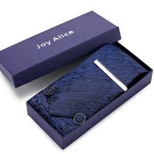 Подарочная коробка шелк Пейсли мужской галстук набор 8 см галстук, шейный платок и Запонки Наборы для мужчин синий клетчатый галстук для мужчин свадебный подарок