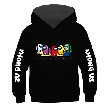 Boys 100% Cotton Casual Clothes Game Among Us Hoodies Sweatshirt Impostor Cartoon Anime Hoodie 2021 Kids Spring Autumn Clothing 1