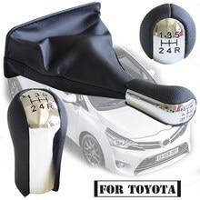 Perilla de palanca de cambios para Toyota Corolla AYGO Verso RAV4 YARIS, cubierta de arranque de Polaina, perilla de palanca de cambio, cabeza de pluma, 5/6 velocidades