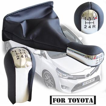 5 6 skrzynia biegów gałka zmiany biegów Gaiter osłona buta dla Toyota Corolla AYGO Verso RAV4 YARIS zmień gałka dźwigni kij główka pióra tanie i dobre opinie Kakulkomen CN (pochodzenie) For Toyota AYGO Verso Corolla RAV4 AVENSIS YARIS VITZ Iso9001 22cm 1992-2009 15 7cm Chrome ABS+Leather