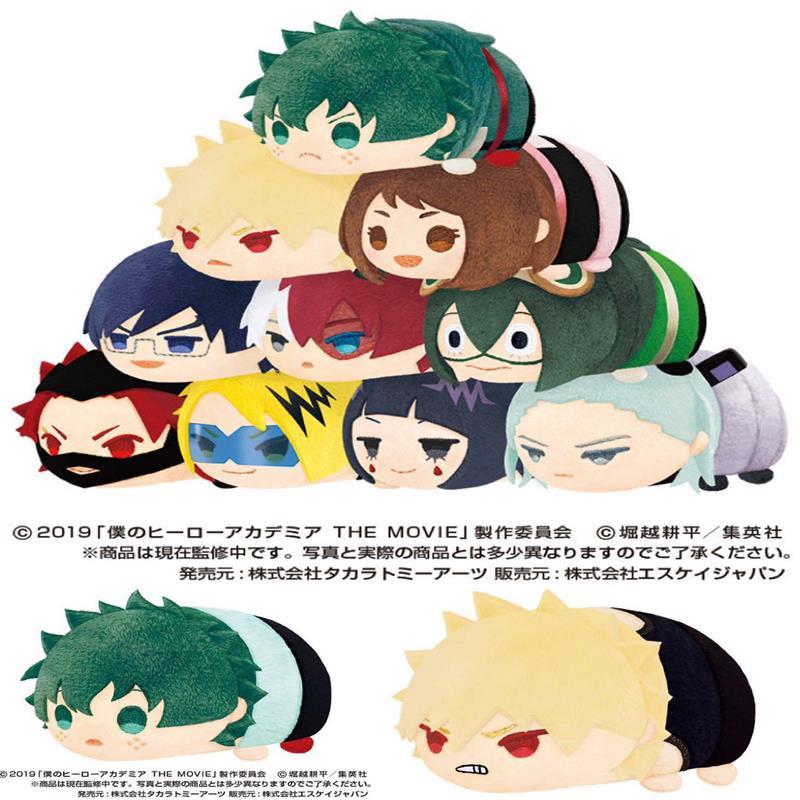 Stuffed Pendant Dolls Boku No Hero Academia Deku Bakugo Shoto Iida Tenya 8.5cm Mochi-mochi Mascot Asui Tsuyu Plush Toys For Kids