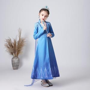 Disney Эльза Платья принцессы для девочек Детские платья для Штаны для девочек с рождественским изображением Наряжаться костюм вечерние «Хол...