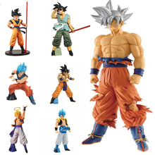 26cm Dragon Ball Goku Ultra Instinct Silver Hair Super Saiyan Goku Broly Vegeta Pvc  Action Figure Toy Collectible Model