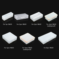 Cajas de almacenamiento de batería de plástico duro 18650, soporte con Clip para 1/2/4/8x18650 4x16340, fundas impermeables de batería recargable