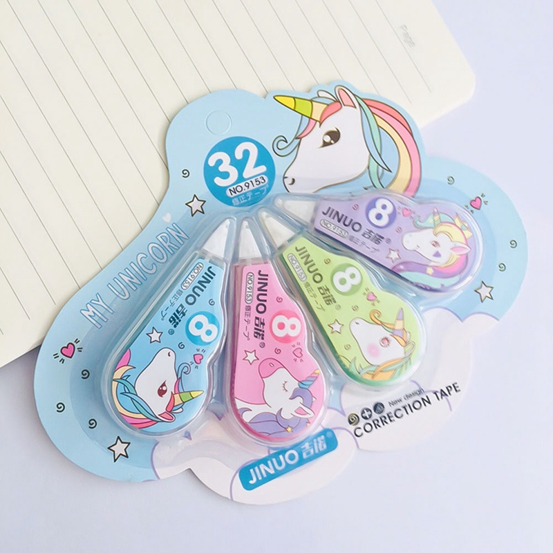 NEW 4 Pcs/Pack Unicorn Practical Correction Tape Promotional Gift Stationery Student Prize School Office Supply