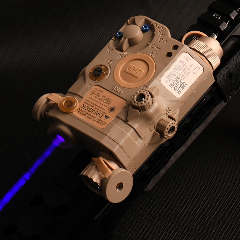 Wadsn airsoft peq15 LA-5C uhp laser azul