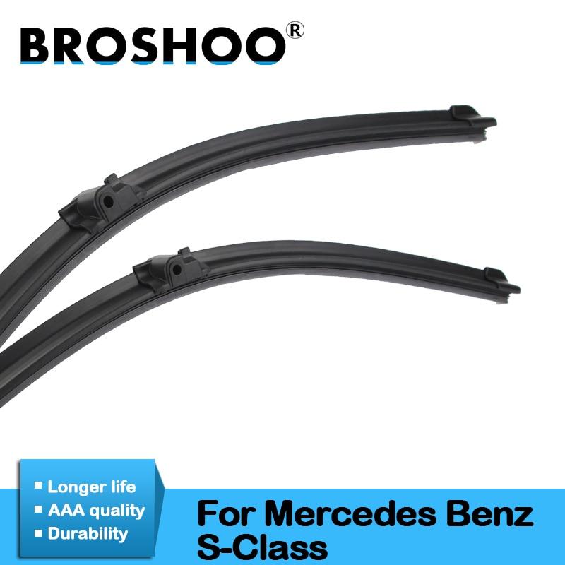 BROSHOO Car Windshield Wiper Blade Rubber 2000 To 2013 For Mercedes Benz S Class W220 W221 S280 S300 S320 S350 S350L S500 S600