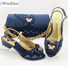Shoes Matching-Bags Soft-Heel High-Quality Women Lower Newest WENZHAN with Style 38-43