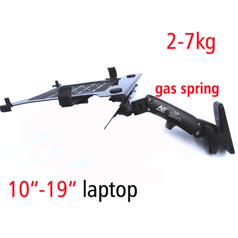 F120FP 360 Rotate Folding Swivel Gas Spring Wall Mounted Laptop Holder Arm Aluminum Alloy Full Motion 10
