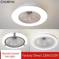 Modern Ceiling Fan Lights Dining Room Bedroom Living Remote Control Fan Lamps Invisible Ceiling Lamp Fan Lighting 110V 220V