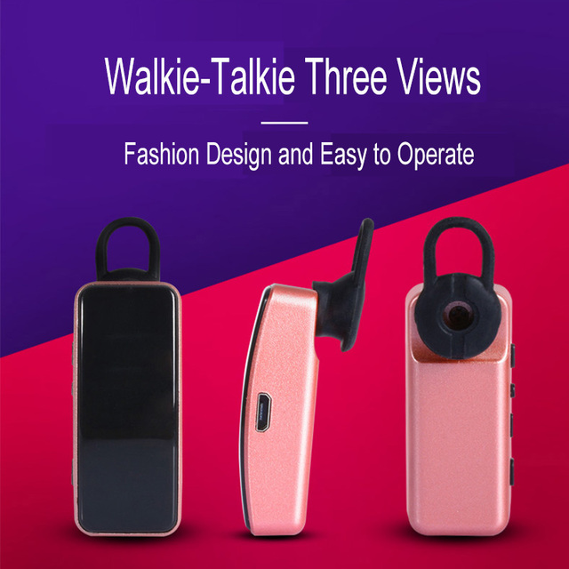 2 pièces sans fil professionnel auriculaire talkie-walkie Mini Portable oreille-crochet casque talkie-walkie Radio communicateur talkie-walkie