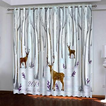 animal curtains  photo Blackout Window Drapes Luxury 3D Curtains For Living room Bed room Office Hotel Home blackout curtains