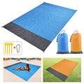 2x2.1m 2x1.4m Pocket Sand Beach Blanket Folding Camping Mat Mattress Portable Waterproof Lightweight Mat Outdoor Picnic Mat