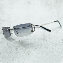 Summer Sunglasses Hiphop Eyewear Shades Rimless Vintage Women Carter Brand Name