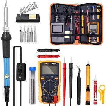 Adjustable Temperature Electric Soldering Iron Kit 220V 110V 60W Welding Solder Rework Station Heat Pencil Repair Tools