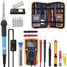 Regulowana temperatura zestaw do lutowania elektrycznego 220V 110V 60W spawanie stacja lutownicza Heat Pencil Repair Tools