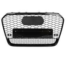 Esporte dianteiro encanta malha favo de mel capa grill preto para audi a6/s6 c7 2012 2013 2014 para rs6 estilo acessórios automóveis