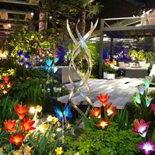 3PCS Solar Lily Flower Lights Colorful LED Waterproof Wedding Party Yard Garden Outdoor Lights Night Lighting Lamp Decoration