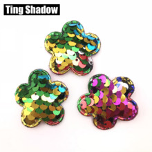 10pcs Glitter Sequins Fabric rabbit Padded Patches butterfly sequin pads DIY Crafts Clothes Hats Hairpin Ornament Accessories