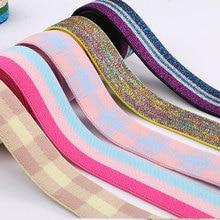 1 метр полосы Эластичные ленты 25 мм(0,98) эластичная лента для головные уборы одежда сумки брюки резиновая тесьма DIY Швейные аксессуары