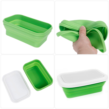 750ml Silicone Folding Lunch Box Food Storage Container Portable For Bowl Children Adult