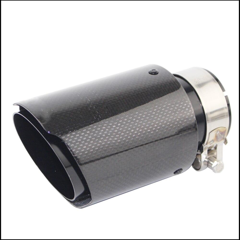 Tubos de escape del coche brillante silenciador de carbono extremo trasero Universal Acero inoxidable brida recta negro para Bmw E90 Silenciador de escape Escudo de tubo Protector guardia para KTM EXC SX SXF XC XCF EXCF EXCW XCFW 125, 200, 250, 300, 350, 400, 450, 525, 530