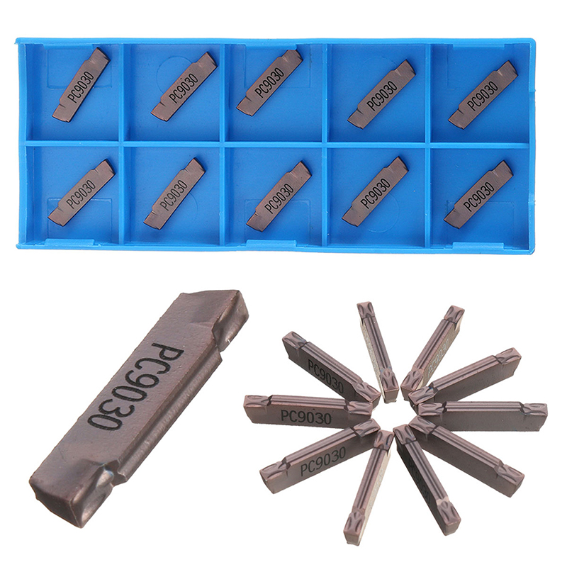 10Pcs/set MGMN200 Carbide Inserts Slot Grooving Blade CNC Lathe Cutter Tool For Metal High Quality Tool Set