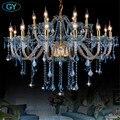 Modern Chandelier Lustre Crystal Chandeliers light blue glass Lustres De Cristal Chandelier industrial decor hanging lamp home