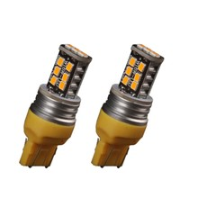 2Pcs Amber/Yellow 7443 7440 High Power 15W Non-Polarity LED Turn Signal Light Bulb(China)