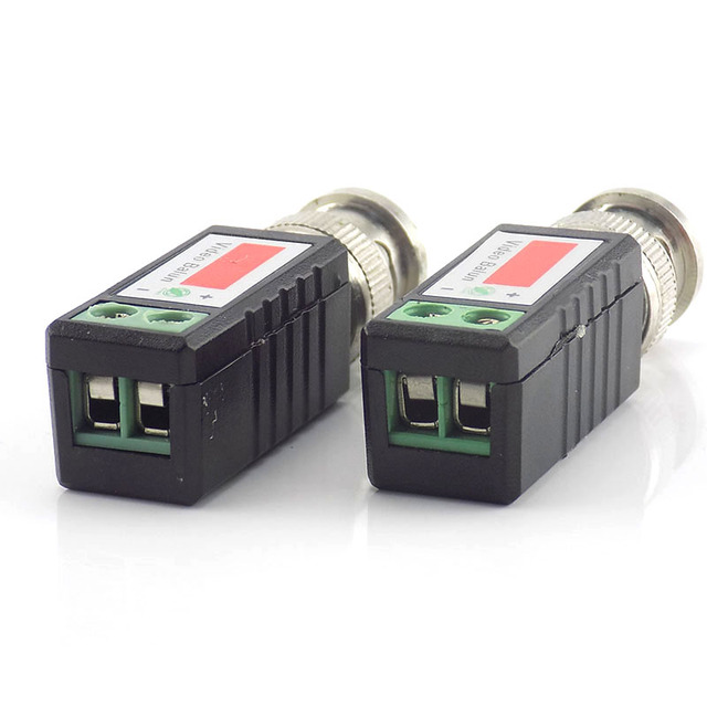 Gakaki 1 pair CCTV video balun Twisted Passive Transceiver BNC Male COAX CAT5 Camera UTP Cable Coaxial Adapter for Analog Cam