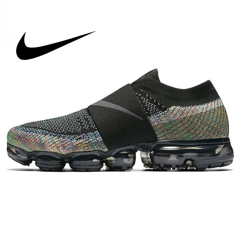 Original Nike Air VaporMax Moc Rainbow Cushion Men's Running Shoes Sports Sneakers Outdoor Anti-skid Mesh Breathable AH3397-003