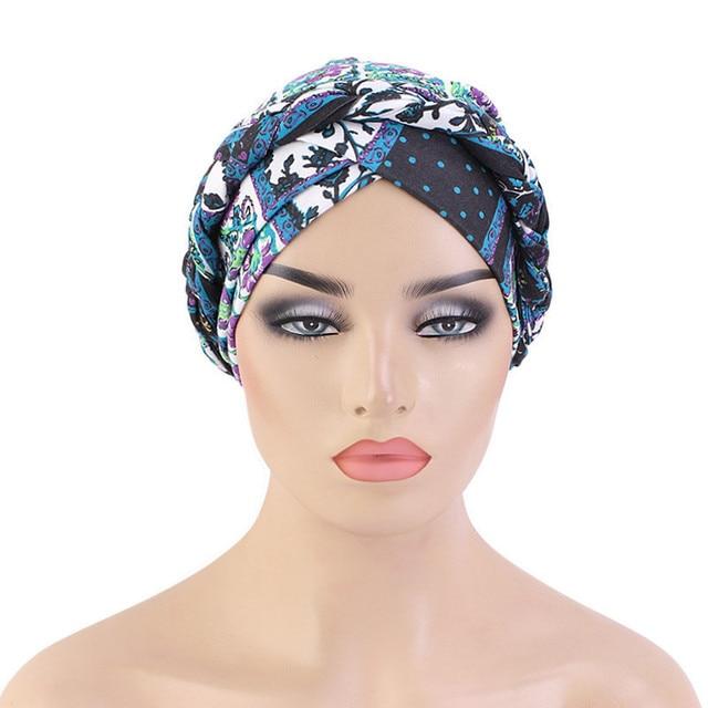 Фото новая оплетка головной убор шапки печать твист платок рак химиотерапия цена