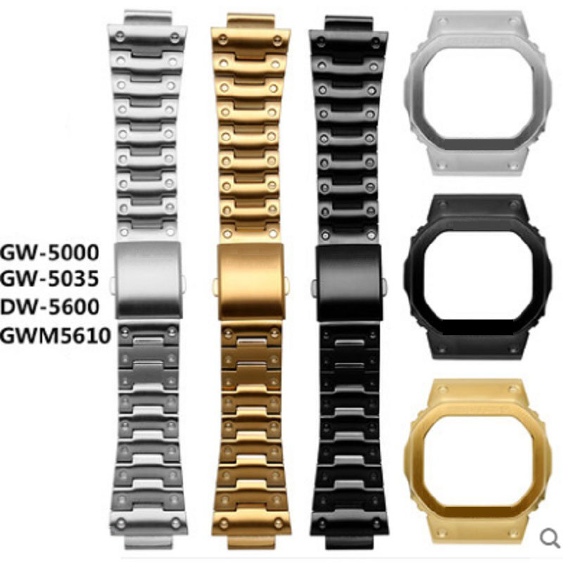 5600 Metal Stainless Steel Watchband for Casio GW M5610 Strap DW 5600 GW 5000 DW 5030