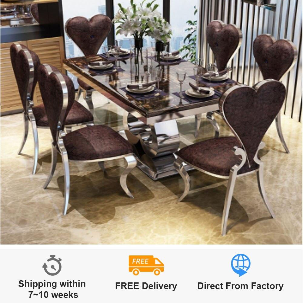Teszt Dió Szerelő Marble Dining Table And 6 Chairs Chevroletlebanon Com