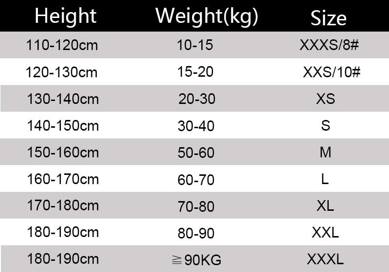 Muay Thai Shorts Size(中文)-恢复的
