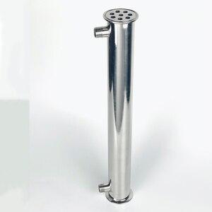 """Image 2 - Зажим 2 """"OD64mm дефлегматор, холодильник дистиллятора. 9 перегородок, 8 труб , длиной 450 мм, нержавеющая сталь 304"""