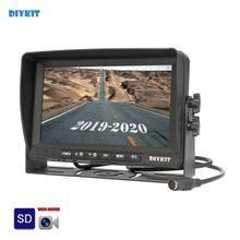 "DIYKIT AHD 7"" IPS LCD HD Car Monitor Rear View Monitor Support 960P AHD LED Camera Support SD Card Video Recording"