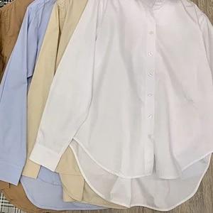 Image 3 - נשים חולצה אביב קיץ פשוט חולצה חדש החבר סגנון קלאסי צללית מוצק חולצות