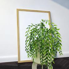 1 Bouquet Artificial Green Plant Plastic Wicker Home Office Wall Hanging Decor Hot sell  Lifelike Style Beautiful decor